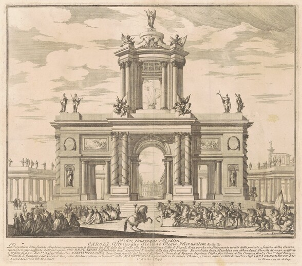 The Seconda Macchina for the Chinea of 1745: Triumphal Arch for the Return of King Charles of Bourbon to Naples