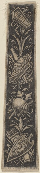 Ornament Plate with Armor and Musical Instruments