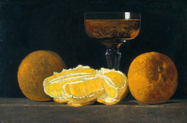 Still Life with Oranges and Goblet of Wine