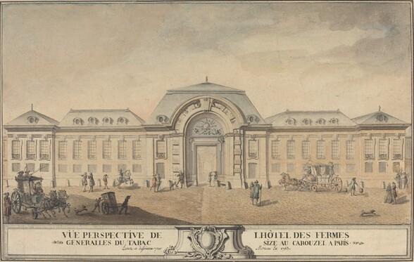 View of the Hôtel des Fermes Générales du Tabac