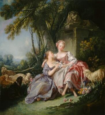 François Boucher, The Love Letter, 1750