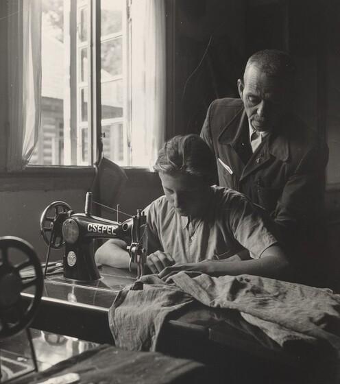 David Seymour (Chim), Tailoring Workshop at Children's Town, Hajduhadhaza, Hungary, 1948
