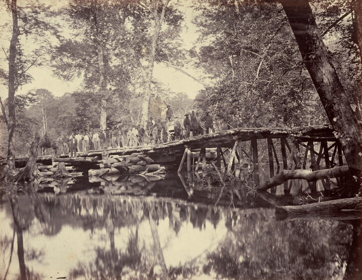 Alexander Gardner, David B. Woodbury, Philp & Solomons, Military Bridge, across the Chickahominy, Virginia, June 1862, published 1866June 1862, published 1866