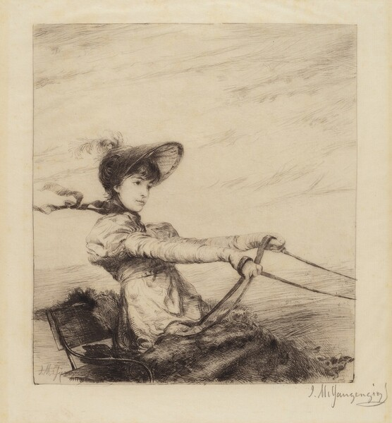 Untitled (Woman Driving Carriage)