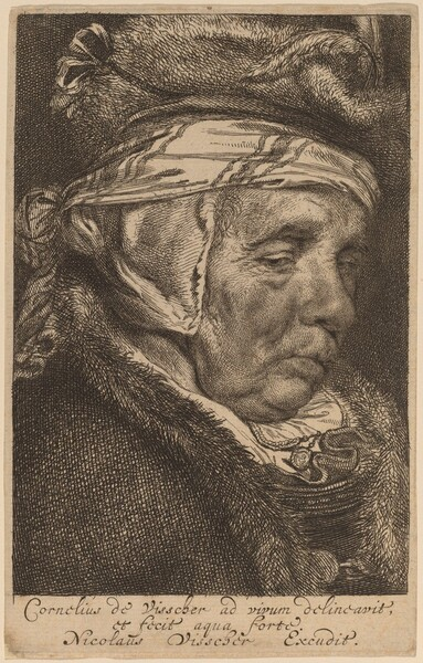 Head of an Old Woman (Visscher