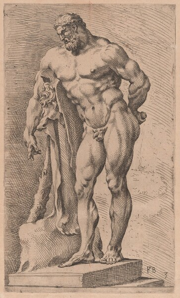 The Farnese Hercules, three-quarter view turned to left  [plate 3]