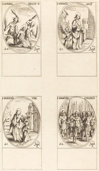 St. Canida; St. Matthew; St. Ipigenia; St. Maurice and Companions
