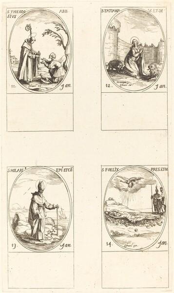 St. Theodosius; St. Tatiana; St. Hilary; St. Felix