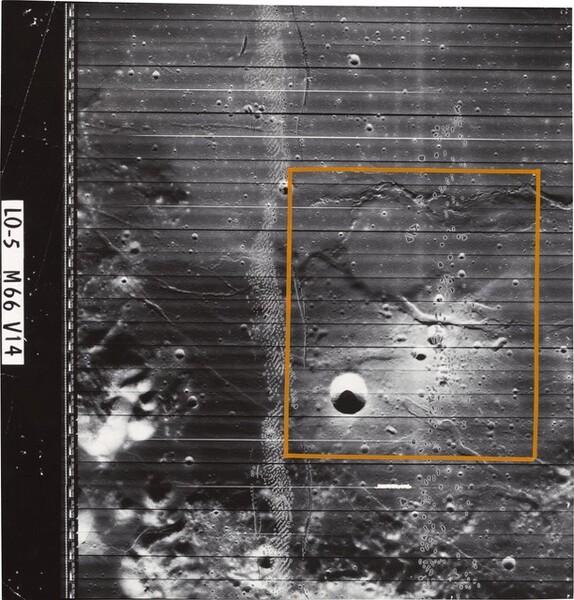 Lunar Orbiter, Medium Resolution, LO V M-066 V-14