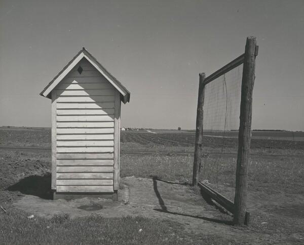 Nebraska Outhouse and Backstop