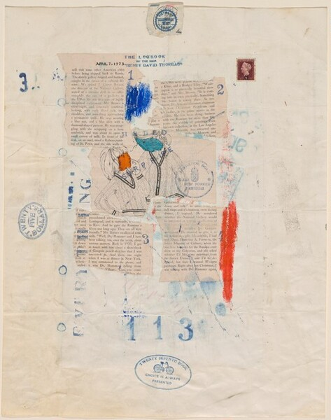 Untitled (The Logbook of the Ship Henry David Thoreau)