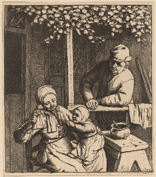 Child Reaching for a Doll