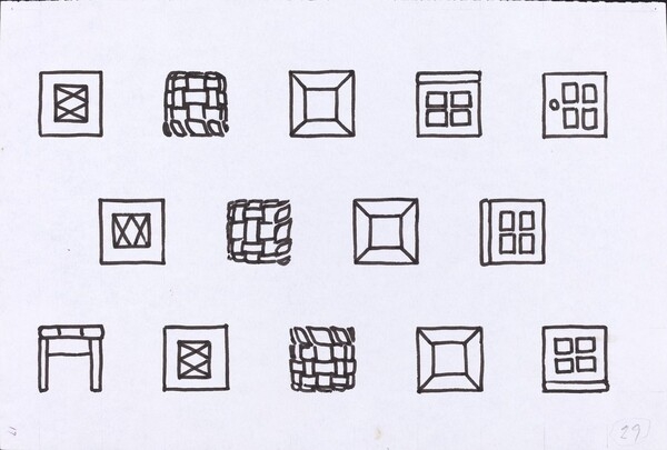 Basket, Table, Door, Window, Mirror, Rug #29