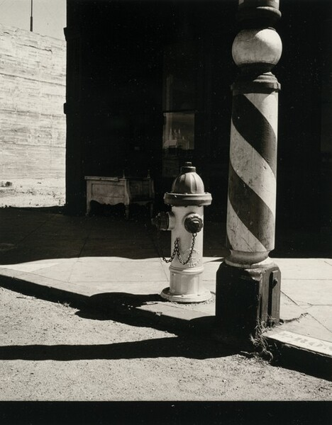 Barber Pole and Hydrant, Needles, California