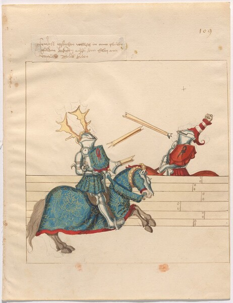 Freydal, The Book of Jousts and Tournament of Emperor Maximilian I: Combats on Horseback (Jousts)(Volume II): Plate 97