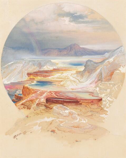 <p>Thomas Moran, Minerva Terrace, Yellowstone, 1872