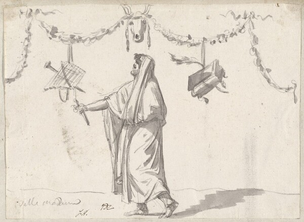 Ornament with a Bearded Man in Ancient Dress