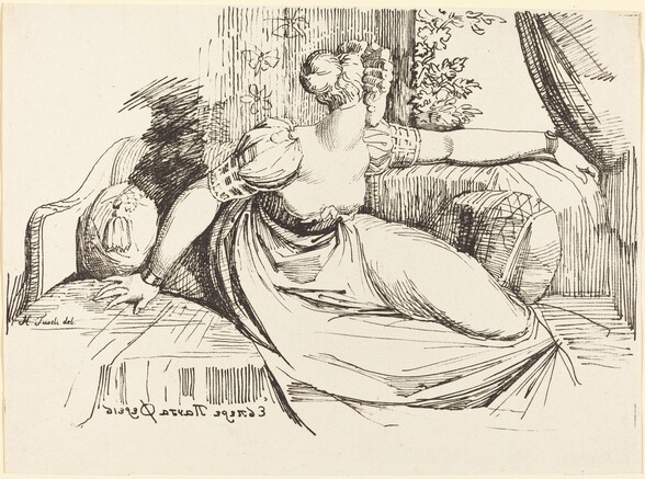 A Woman Sitting by the Window