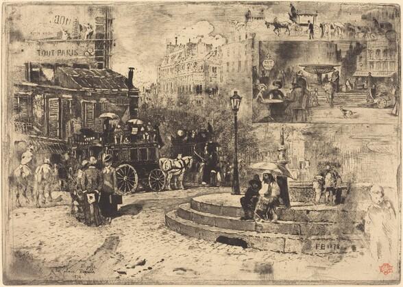 La Place Pigalle en 1878 (Place Pigalle in 1878)