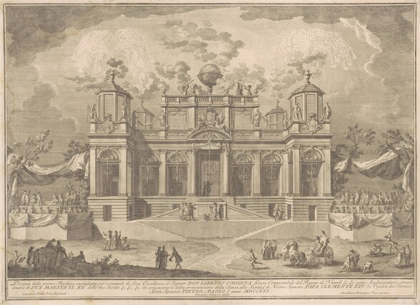 The Prima Macchina for the Chinea of 1770: An Roman Building for Commerce