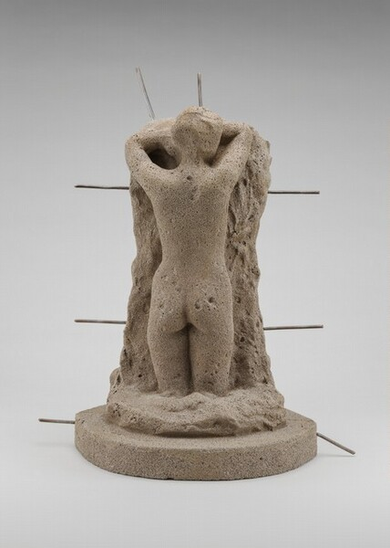 Lost-Wax Casting Display: clay model [third of ten steps]
