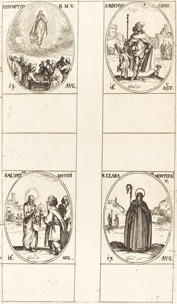 The Assumption; St. Roch; Salvator Mundi;  St. Clare of Monte Falco