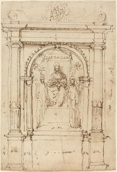 Altarpiece of the Madonna and Child with Saints, in Its Architectural Setting