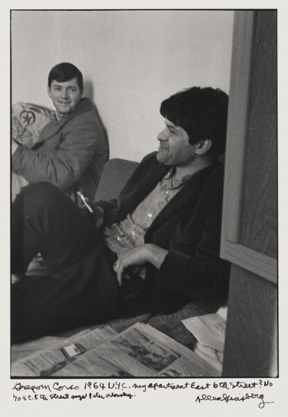 Gregory Corso 1964 N.Y.C. my apartment East 6th Street? No 704 E. 5th Street says Peter Orlovsky.