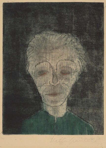 Tired Man (Self-Portrait)