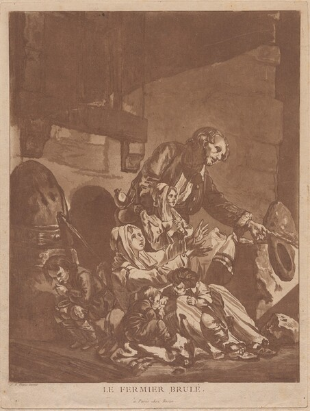 Le Fermier brulé (A Burnt-Out Farmer, Begging with his Family)