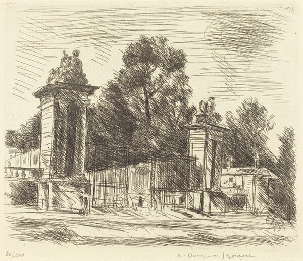 Entrance to the Orangerie, Versailles (Large Plate) (Versailles, l
