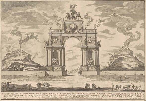 The Prima Macchina for the Chinea of 1756: A Triumphal Arch between Mount Etna and Mount Vesuvius