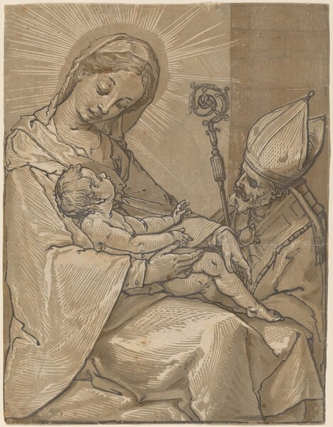Madonna and Child with a Bishop