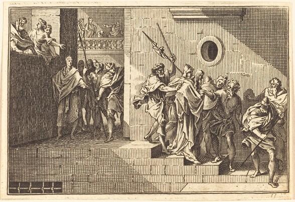 Herod Sending Christ back to Pilate