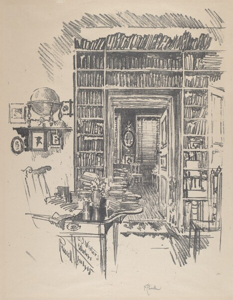 Book-Room at Dr. Wister