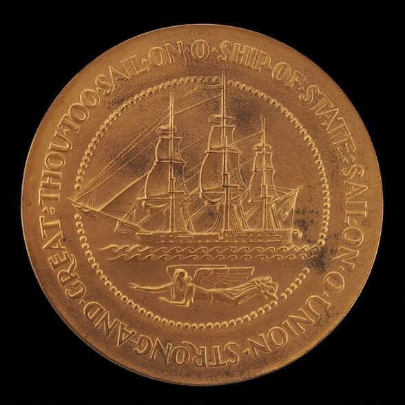 Franklin Delano Roosevelt Inaugural Medal: The Ship of State [reverse]