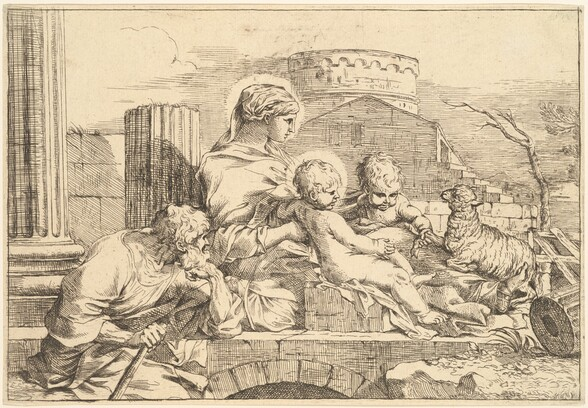 Holy Family Seated on an Arch