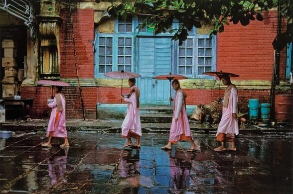 Procession of Nuns. Rangoon, Burma/Myanmar