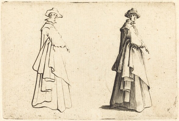 Lady in a Large Coat