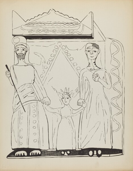 Plate 28: The Holy Family: From Portfolio Spanish Colonial Designs of New Mexico