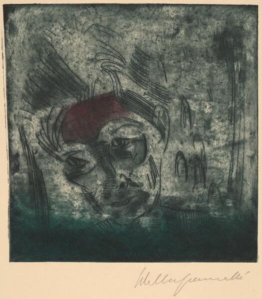 Bust of a Weary Man, Self-portrait (Ermüdender Kopf, Selbstporträt)