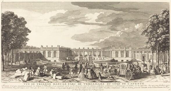 Vue de Trianon dans le Parc de Versailles du Cote de l