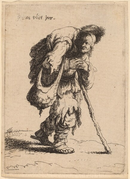 Beggar Carrying a Woman on His Back