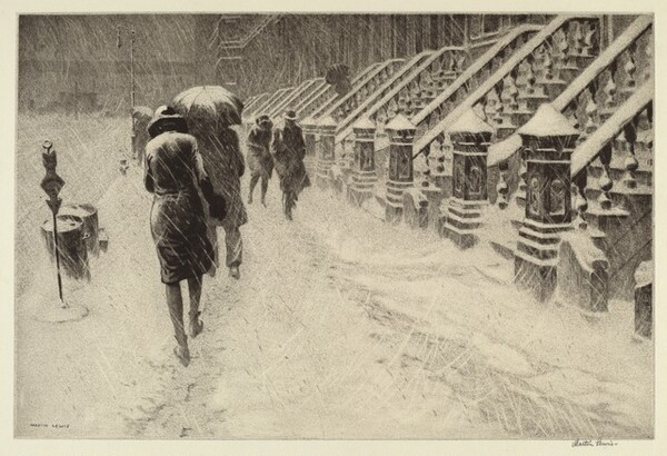 Stoops in Snow