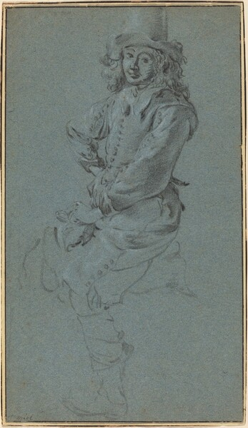 Seated Cavalier with His Arm Akimbo