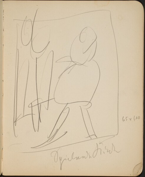Kompositionsskizze mit zwei Figuren (Sketch with Two Figures) [p. 11]