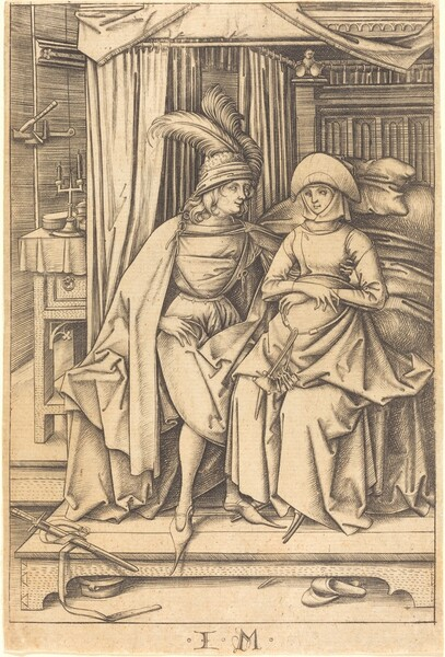 Couple Seated on a Bed