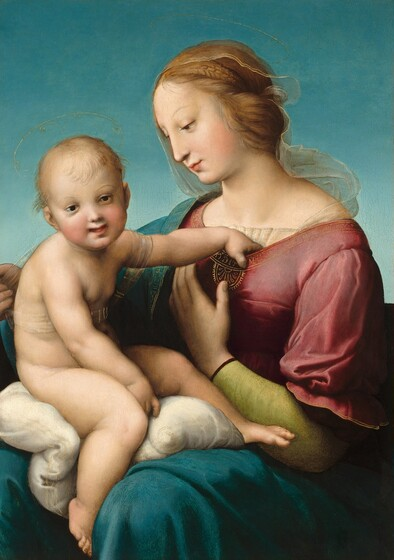 <p>Raphael, The Niccolini-Cowper Madonna, 1508