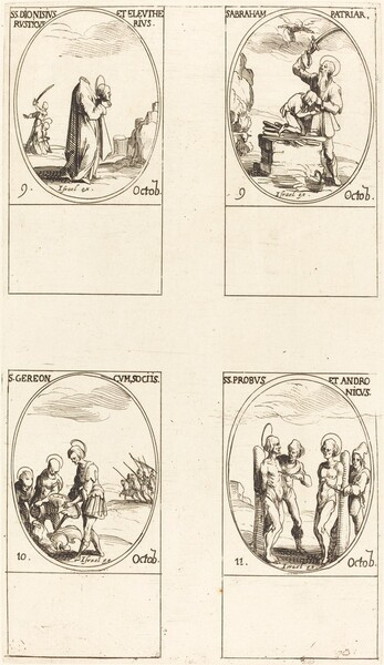 St. Dionysius, Rusticus & Eleutherius; St. Abraham; St. Gereon & Companions; Sts. Pro