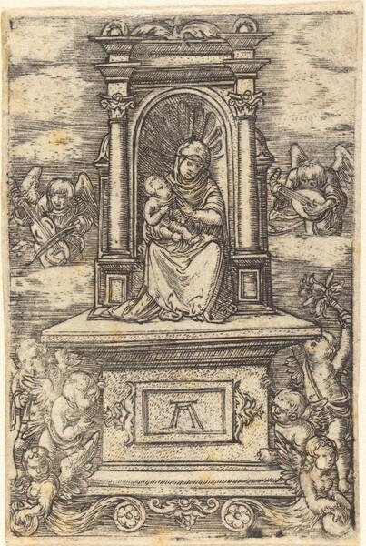 The Beautiful Virgin of Regensburg on an Altar